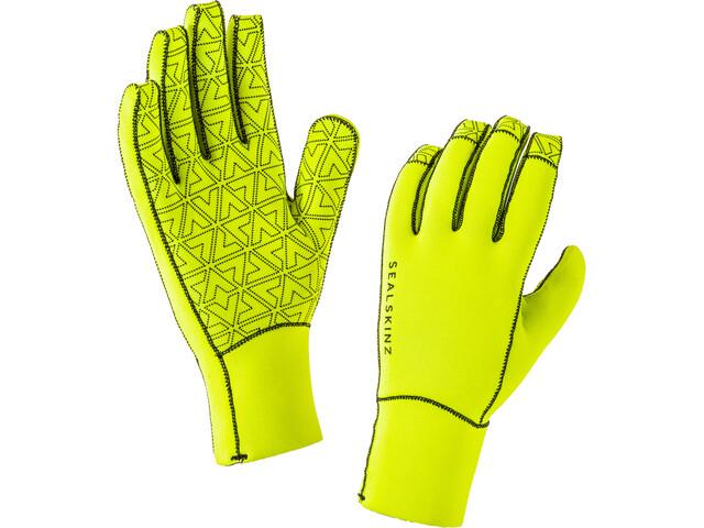 Sealskinz Neoprene Gloves Herre black/hi vis yellow